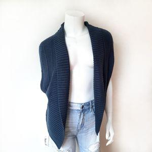 Gap Blue Dark Teal Cardigan Short Sleeve Sweater